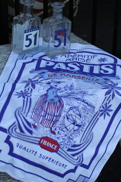 French Cotton Tea Towel #Pastis