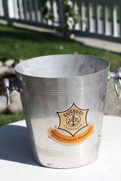French Champagne Bucket #Veuve Clicquot