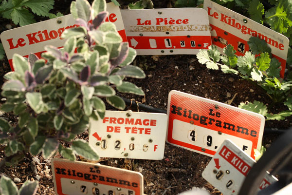French Market Produce Signs